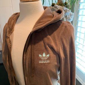 Adidas chocolate brown Hoodie